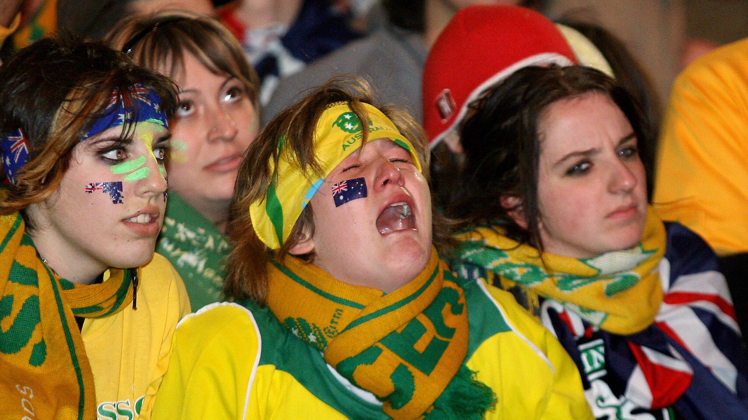 Australian fan crying 2006 World Cup