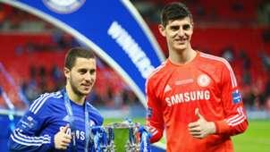Thibaut Courtois Eden Hazard Chelsea 2015