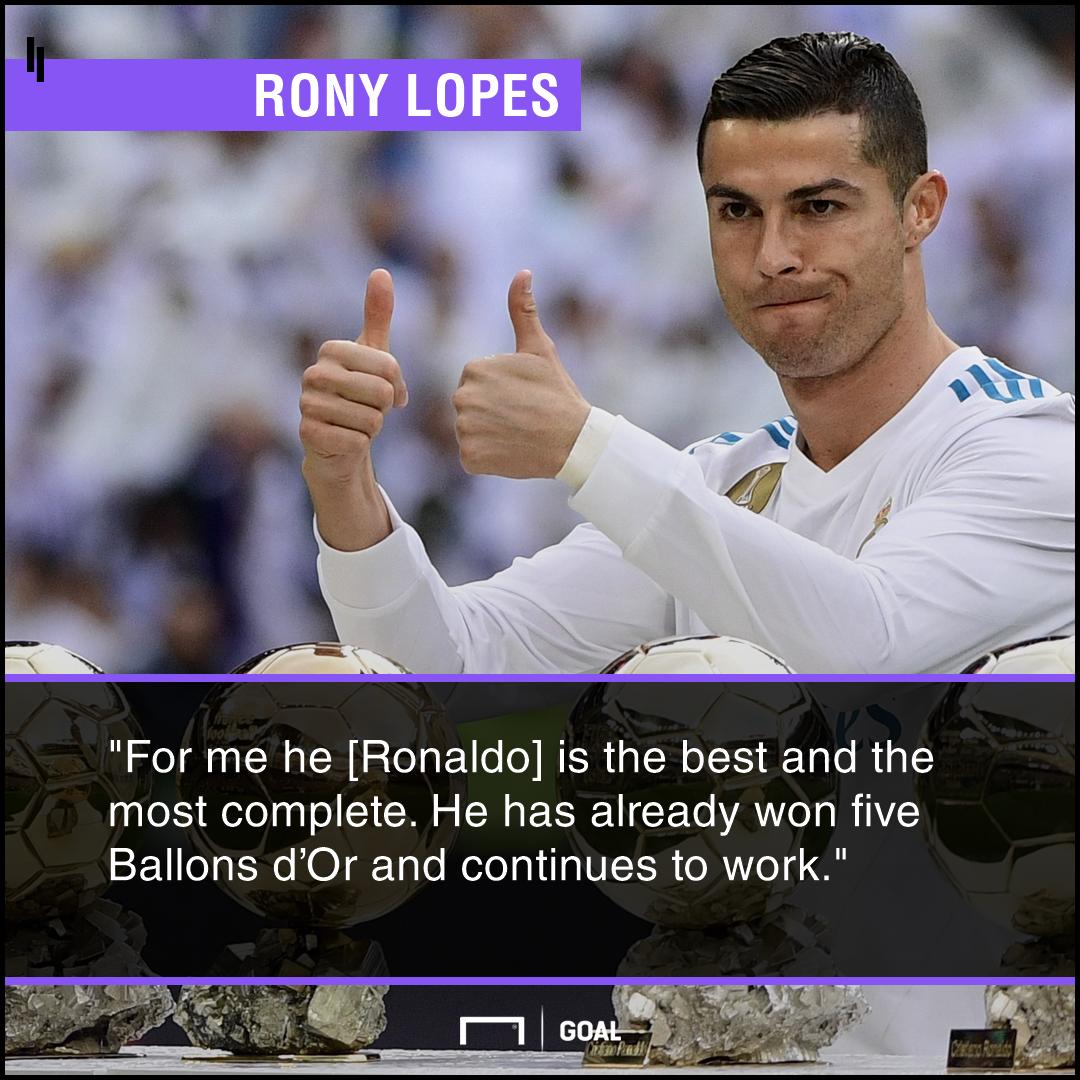 Cristiano Ronaldo complete Rony Lopes