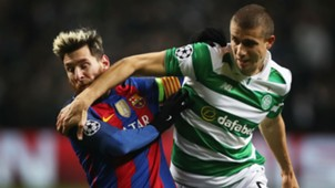 jozo simunovic lionel messi - celtic barcelona - champions league 2016
