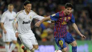Mesut Ozil Lionel Messi Real Madrid Barcelona 2012