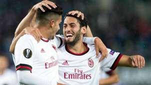 Andre Silva Hakan Calhanoglu AC Milan