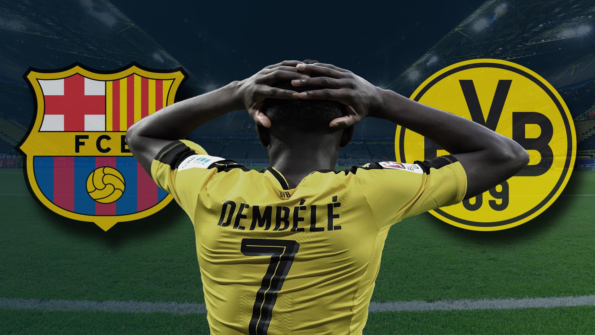 GFX Ousmane Dembele Borussia Dortmund Barcelona
