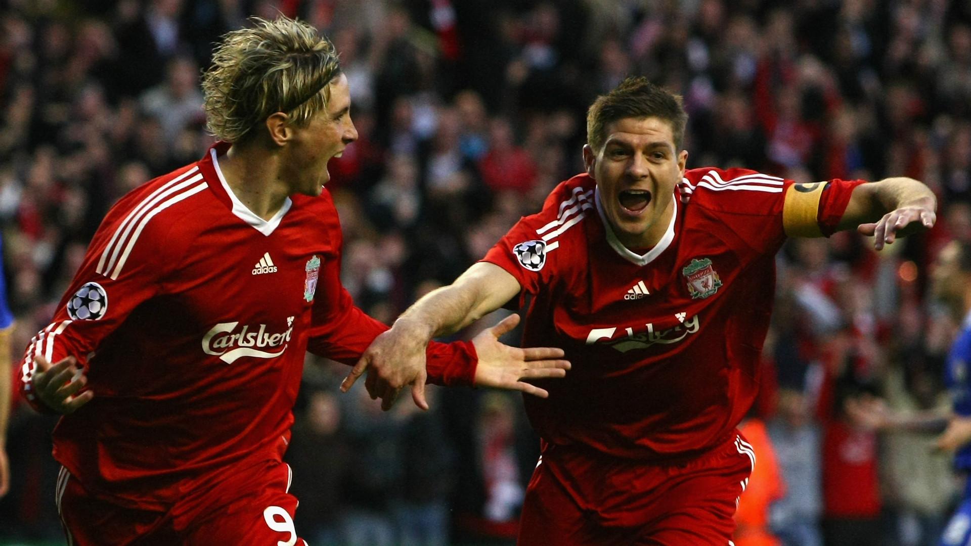 Liverpool Chelsea Fernando Torres Steven Gerrard Champions League 2009