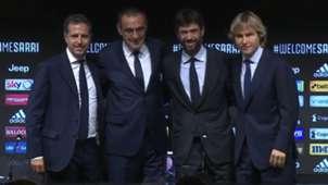 Paratici Sarri Agnelli Nedved Juventus