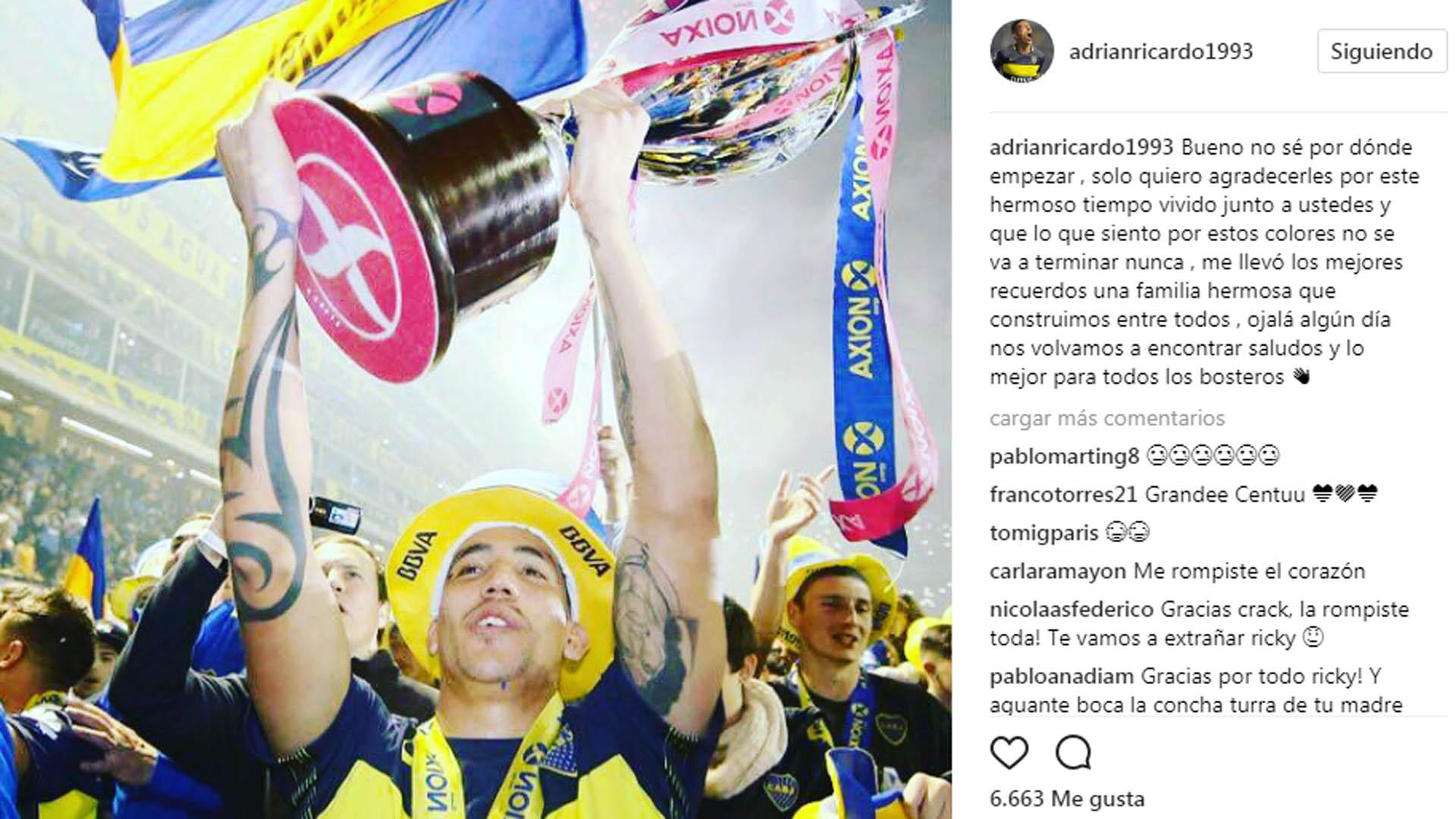 Ricardo Centurion Instagram 100717