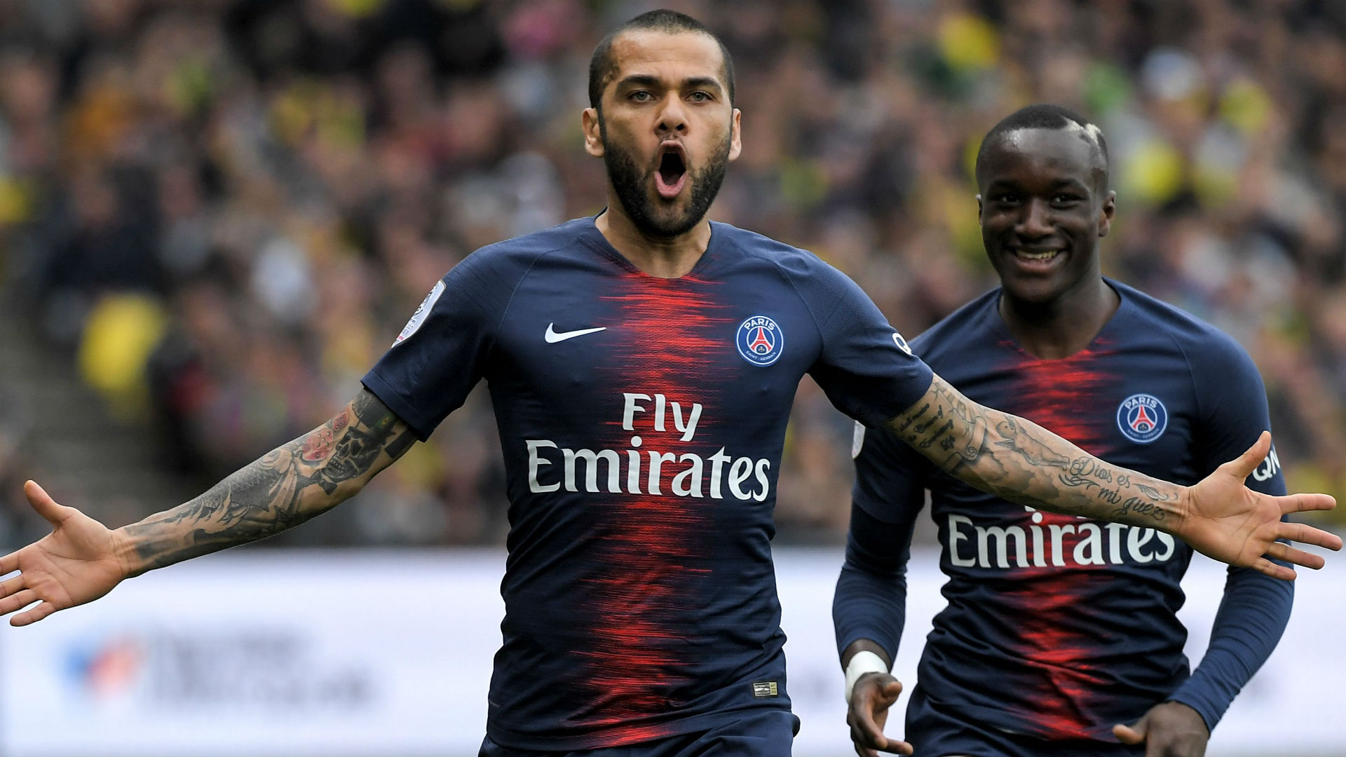 Daniel Alves Nantes PSG Ligue 1 17042019