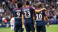 Edinson Cavani Neymar Julian Draxler PSG Bordeaux Ligue 1 30092017