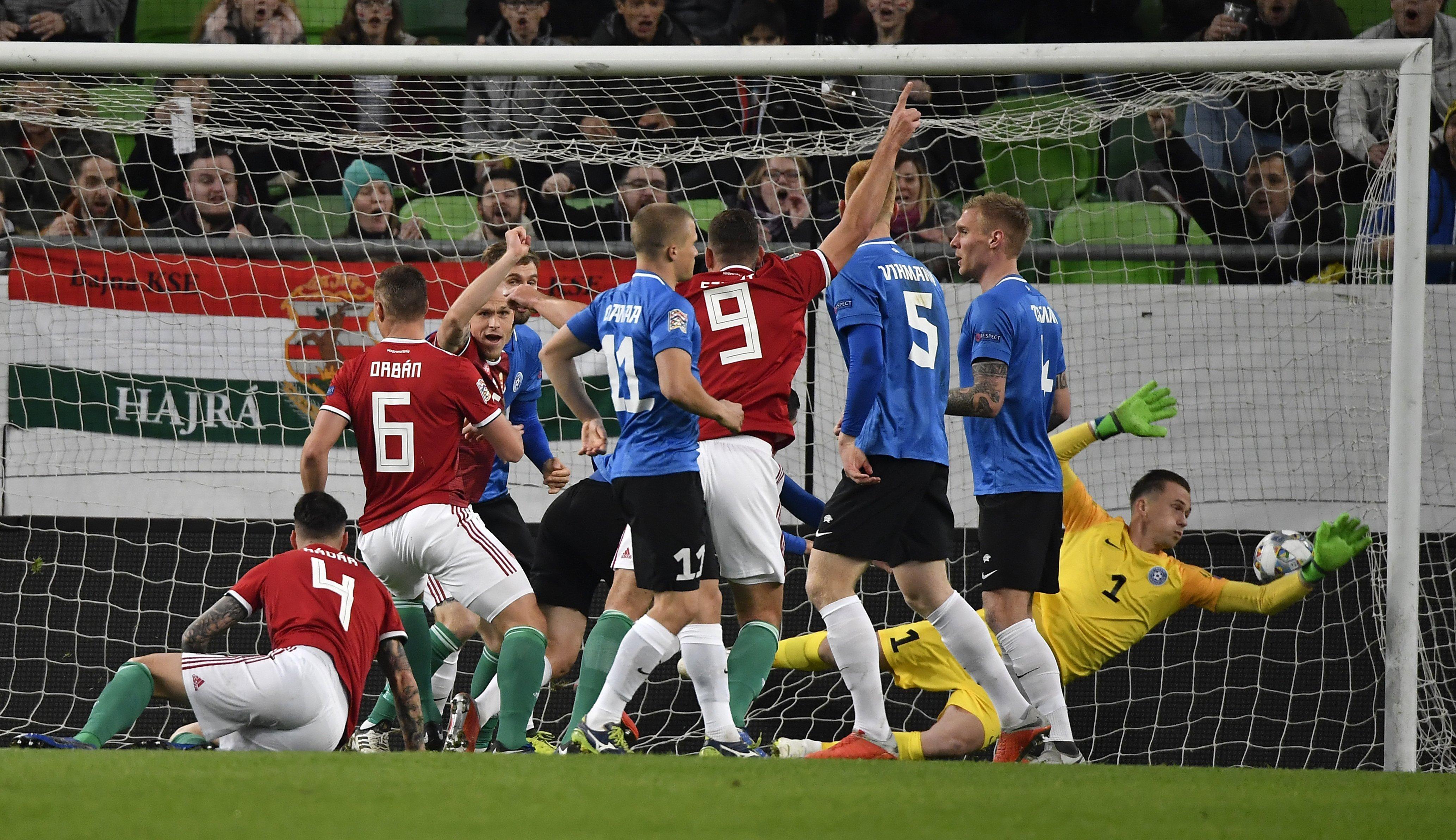 Magyarország Észtország Orban gólja