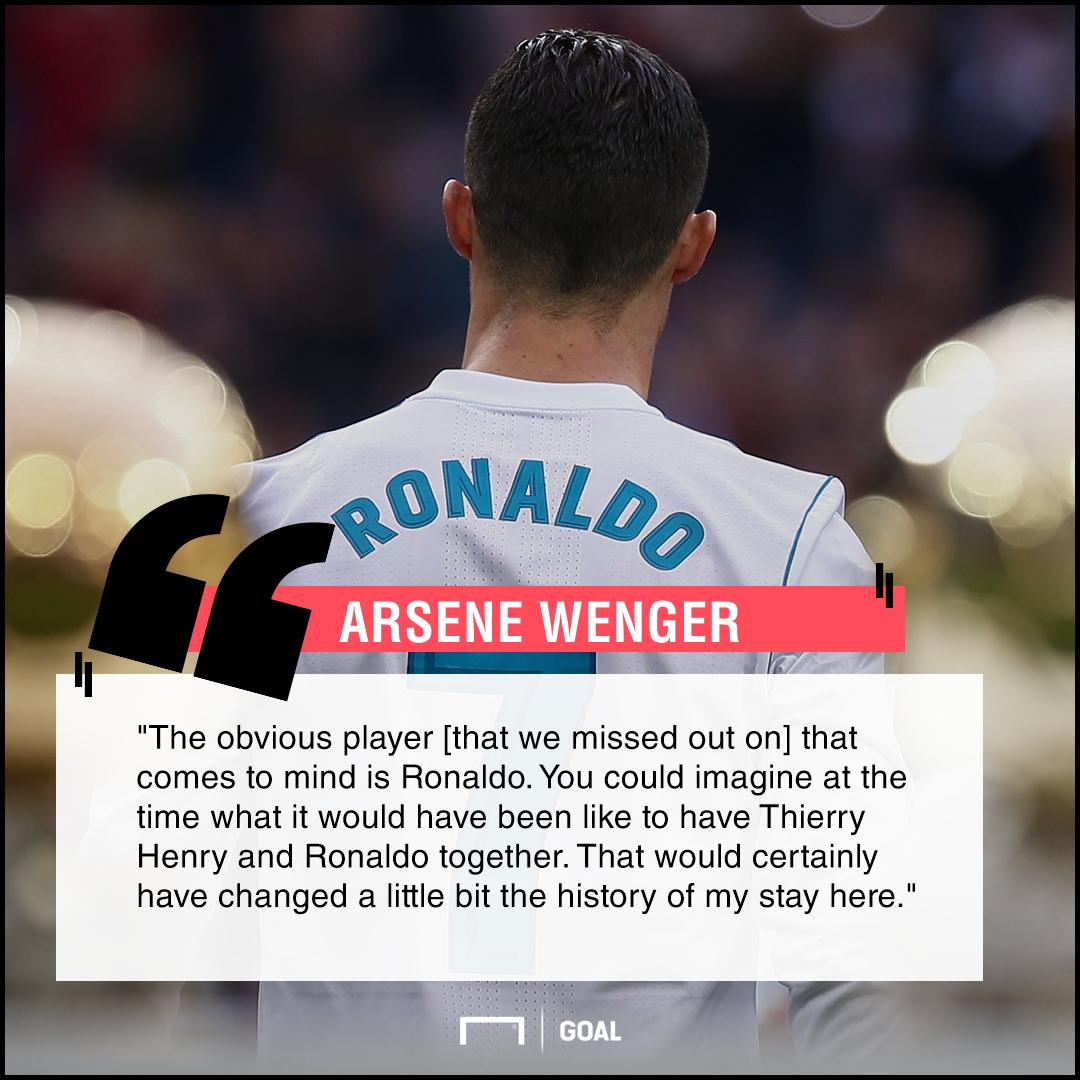 Arsene Wenger Cristiano Ronaldo Arsenal transfer regret
