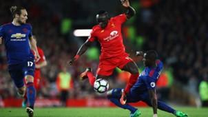 Sadio Mane Eric Bailly Liverpool Manchester United