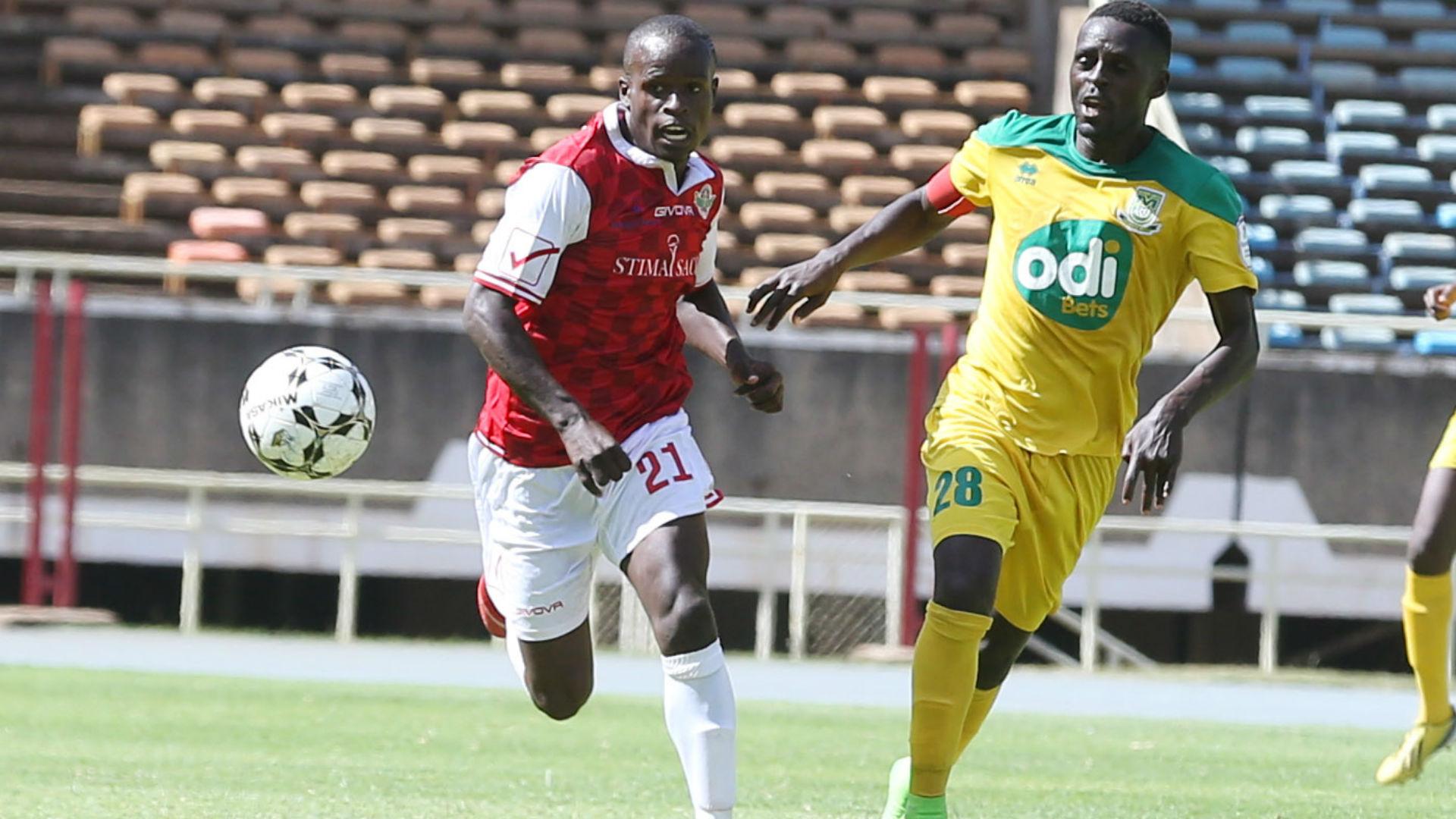 Henry Onyango of Western Situma v James Situma of Mathare United.