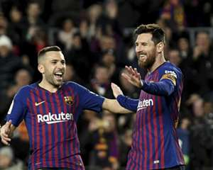 Jordi Alba Lionel Messi Barcelona