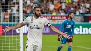 Karim Benzema David De Gea Manchester United Real Madrid ICC 2018