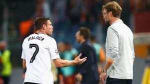 James Milner Jurgen Klopp Liverpool Roma UEFA Champions League