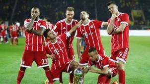 Bayern Munich celebrate Super Cup 2017