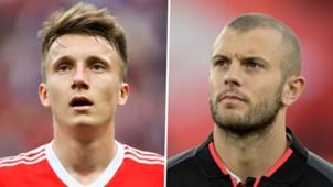 Aleksandr Golovin Jack Wilshere Russia Arsenal 2017-18
