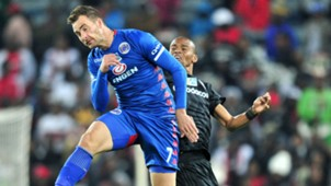 Bradley Grobler, SuperSport United & Gladwin Shitolo, Orlando Pirates, August 2018
