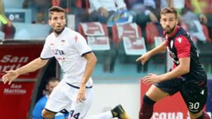 Leonardo Pavoletti, Cazim Sulijc, Cagliari, Crotone, Serie A, 10092017
