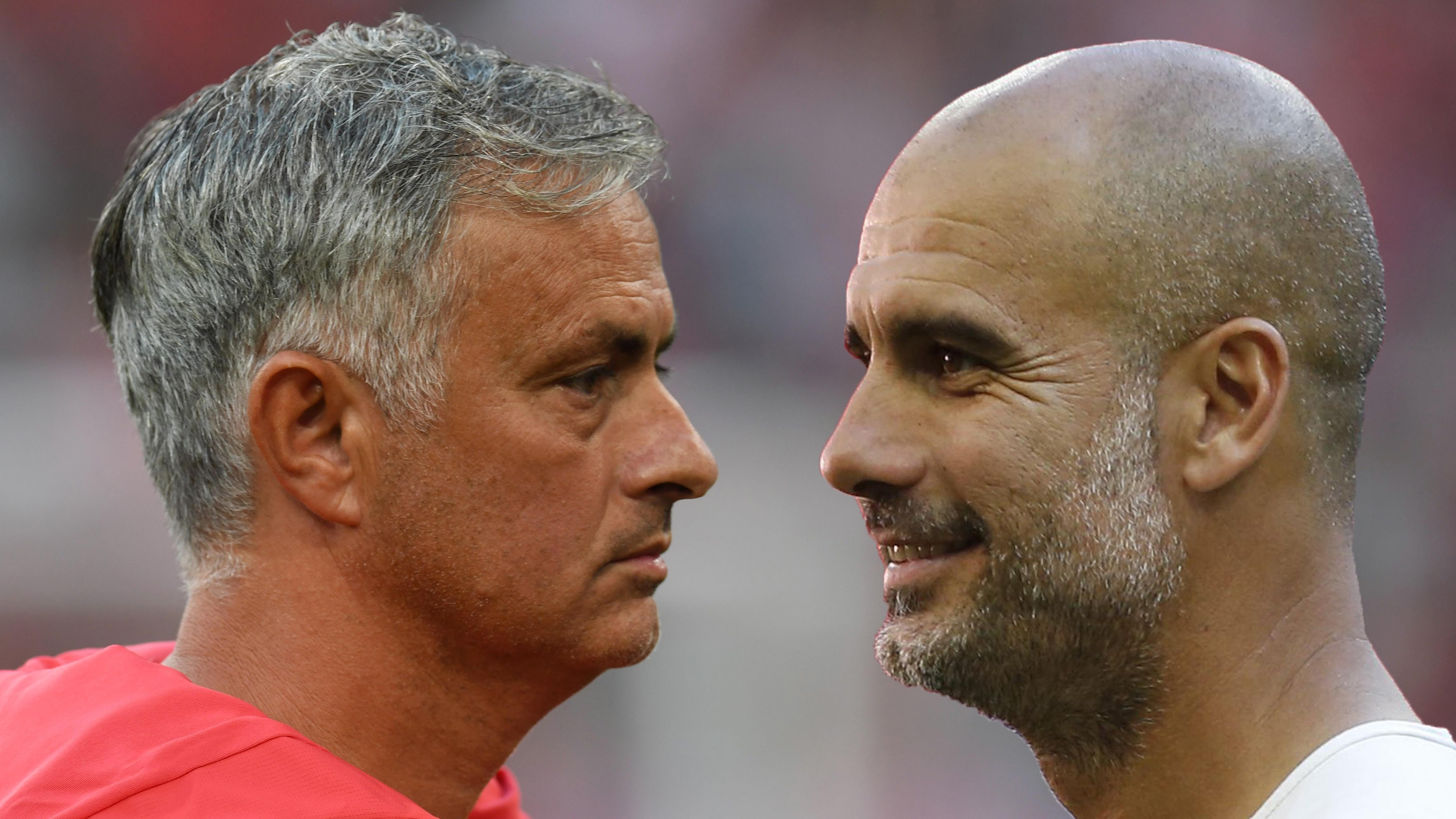 Jose Mourinho Pep Guardiola split