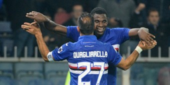 Duvan Zapata Fabio Quagliarella Genoa Sampdoria Serie A