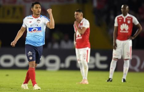 Teo Gutiérrez gol Santa Fe - Junior Copa Sudamericana 2018
