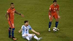270616 Chile Argentina Arturo Vidal Gonzalo Jara Lionel Messi