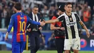 Paulo Dybala Lionel Messi Juventus Barcelona
