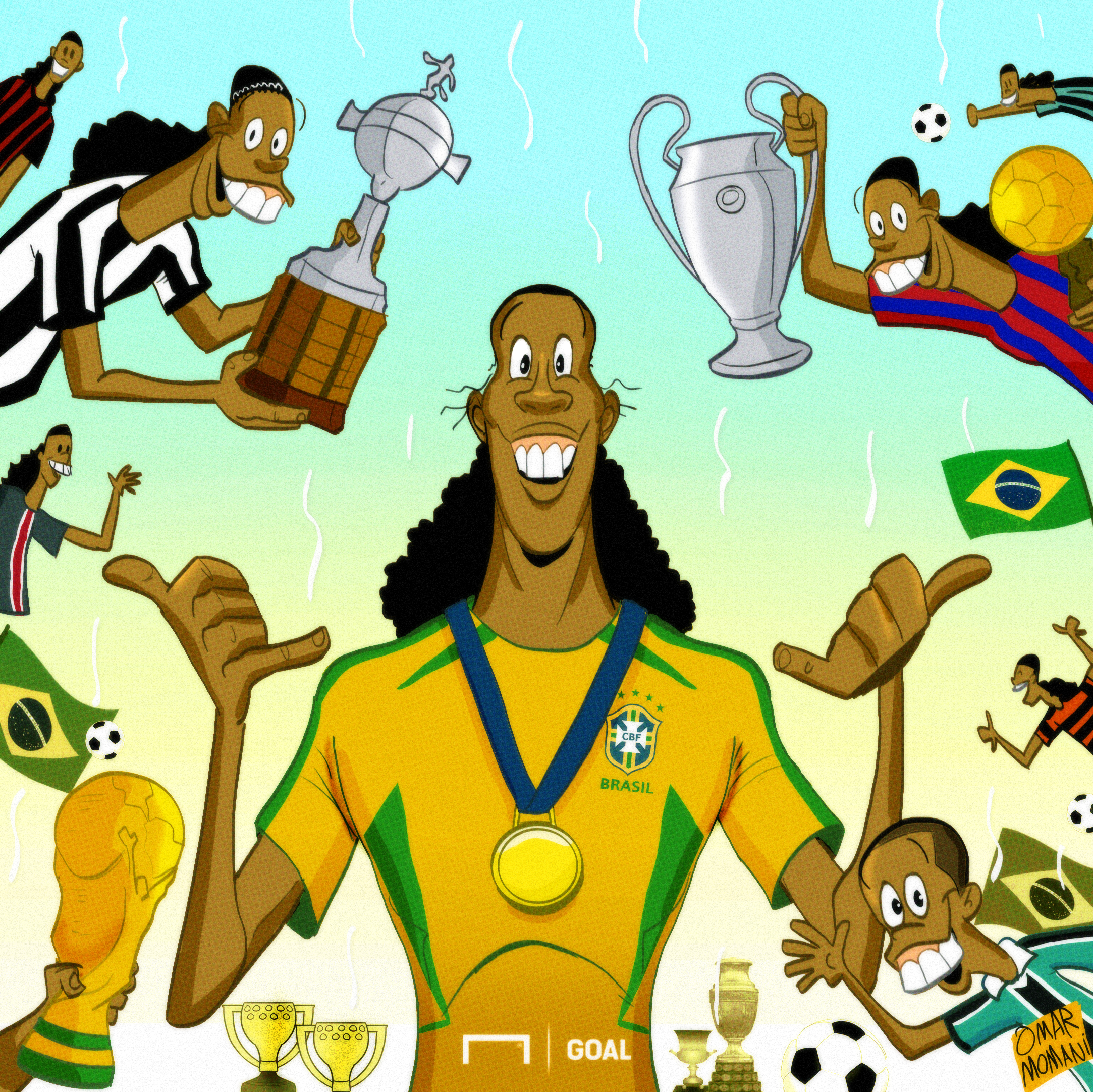 CARTOON Ronaldinho retirement