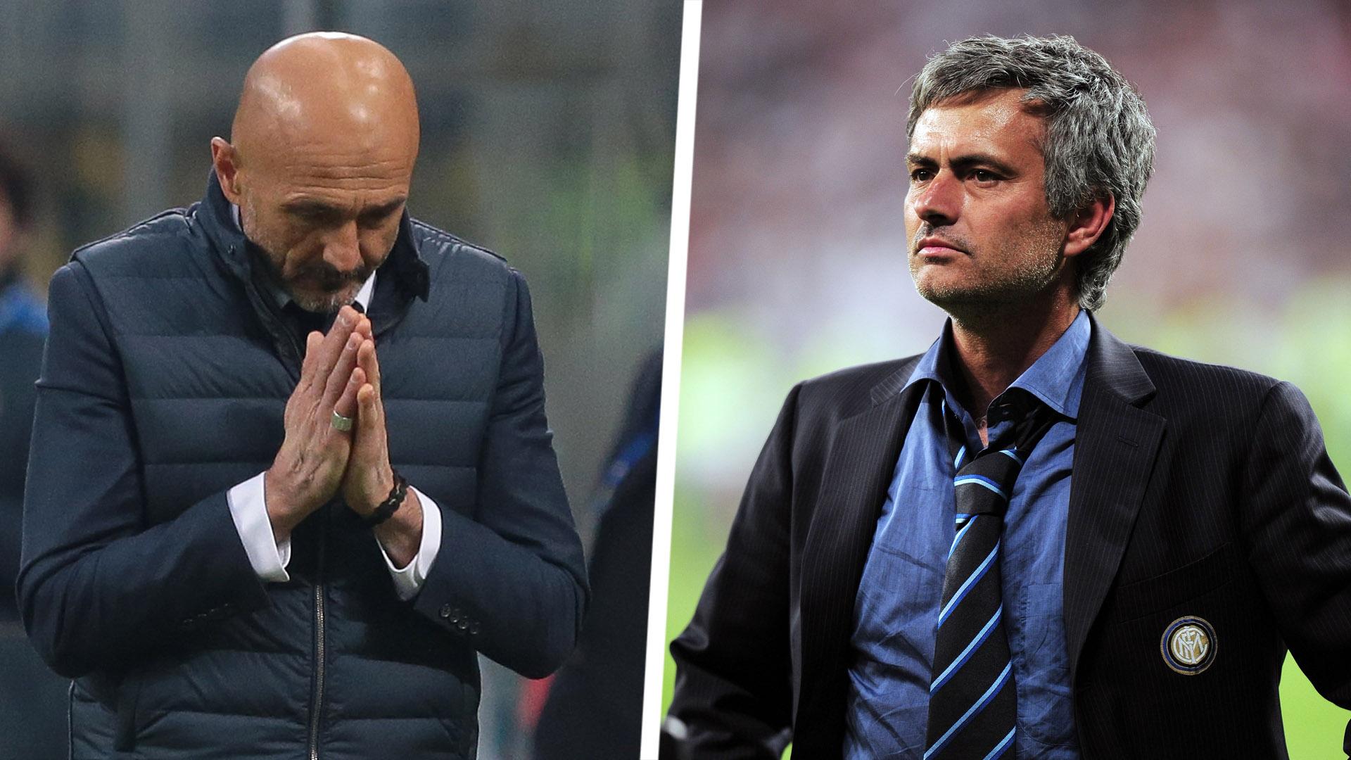 Luciano Spalletti Jose Mourinho Inter Split