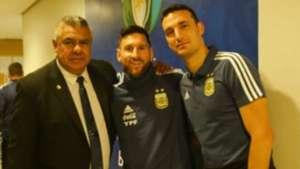Lionel Messi Claudio Tapia Lionel Scaloni Seleccion Argentina 06072019
