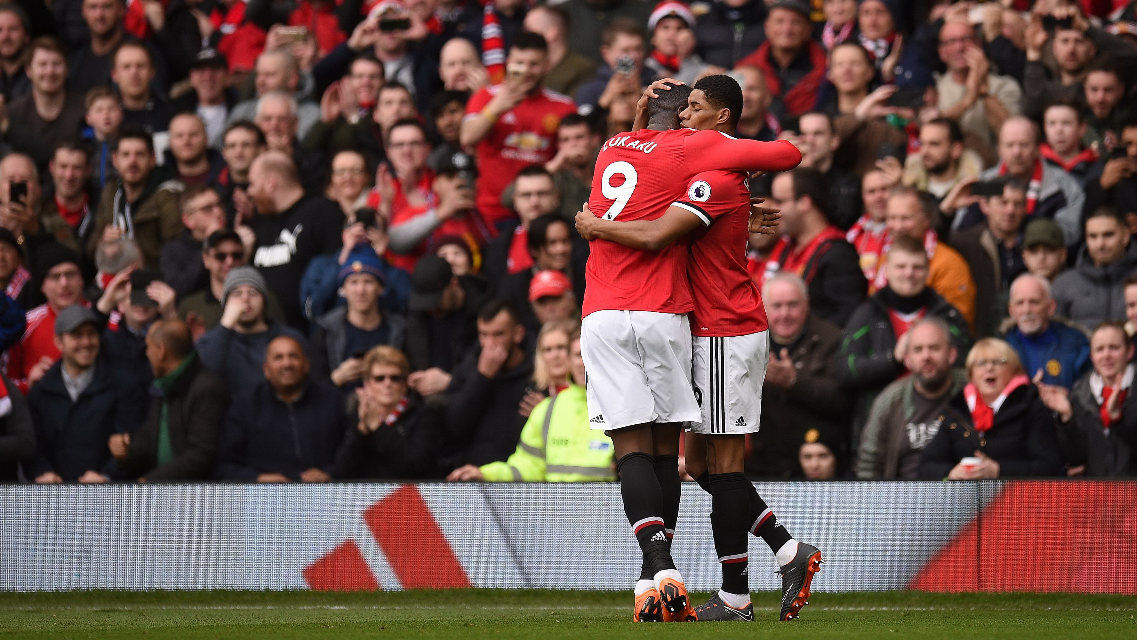 Marcus Rashford Romelu Lukaku Manchester United Liverpool Premier League