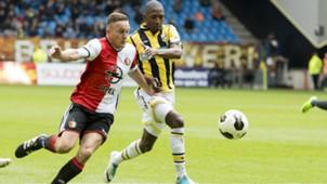 Jens Toornstra, Kelvin Leerdam, Vitesse - Feyenoord, Eredivisie, 04232017