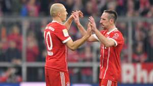 Franck Ribery, Arjen Robben, Bayern Munich, 17/18