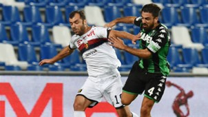 Goran Pandev Francesco Magnanelli Sassuolo Genoa Serie A 08202017