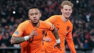 Memphis Depay Frenkie de Jong Netherlands 11162018