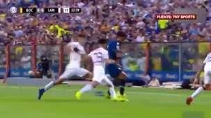 Captura TV Boca Lanus Superliga argentina 170219
