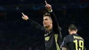 Cristiano Ronaldo celebrating Ajax Juventus Champions League