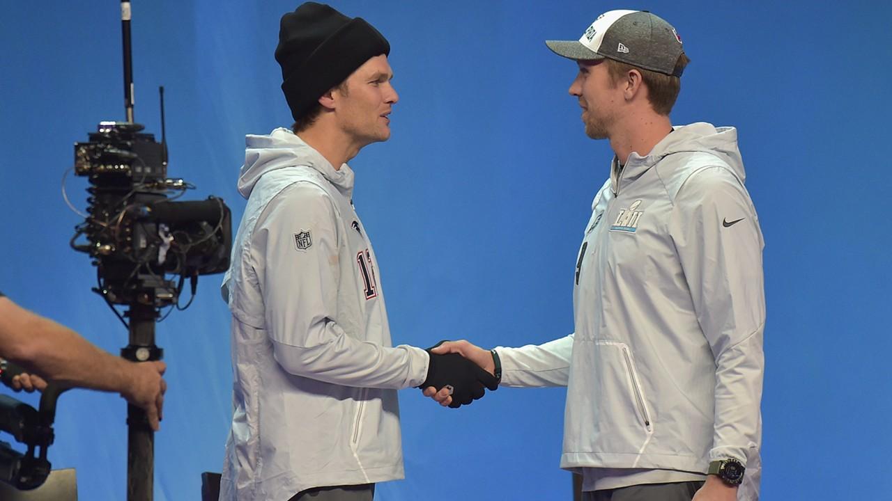 Tom Brady Nick Foles Super Bowl