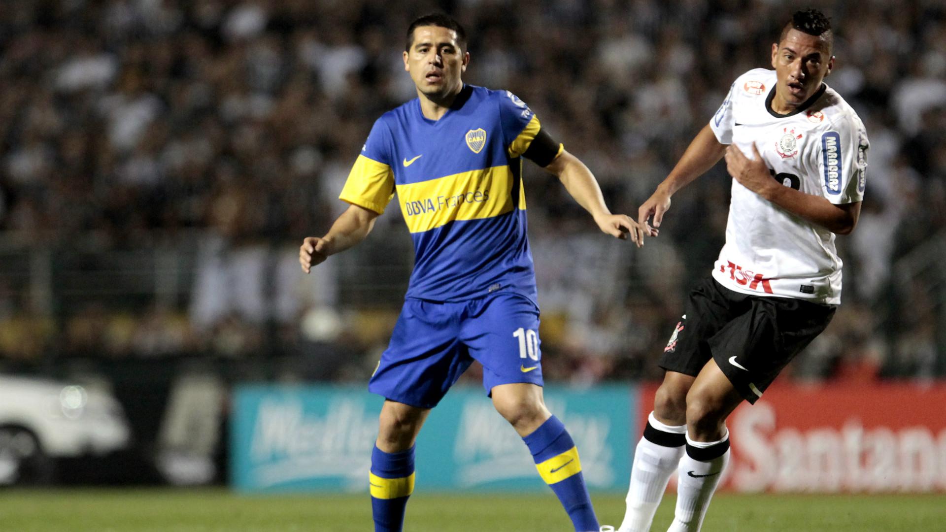 Juan Roman Riquelme Ralf Corinthians Boca Copa Libertadores 2012