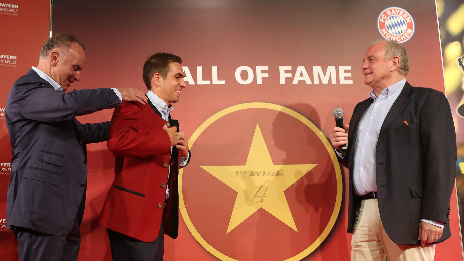 Philipp Lahm Bayern Munich Hall of Fame