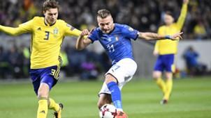 Victor Lindelof Ciro Immobile Sweden Italy