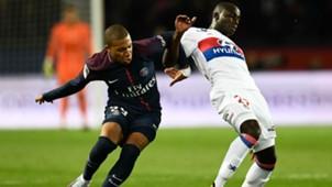 Ferland Mendy Kylian Mbappe PSG Lyon Ligue 1 17092017