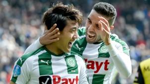 Ritsu Doan, Mimoun Mahi, FC Groningen, Eredivisie 04082018