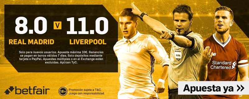 Real Madrid Liverpool Betfair