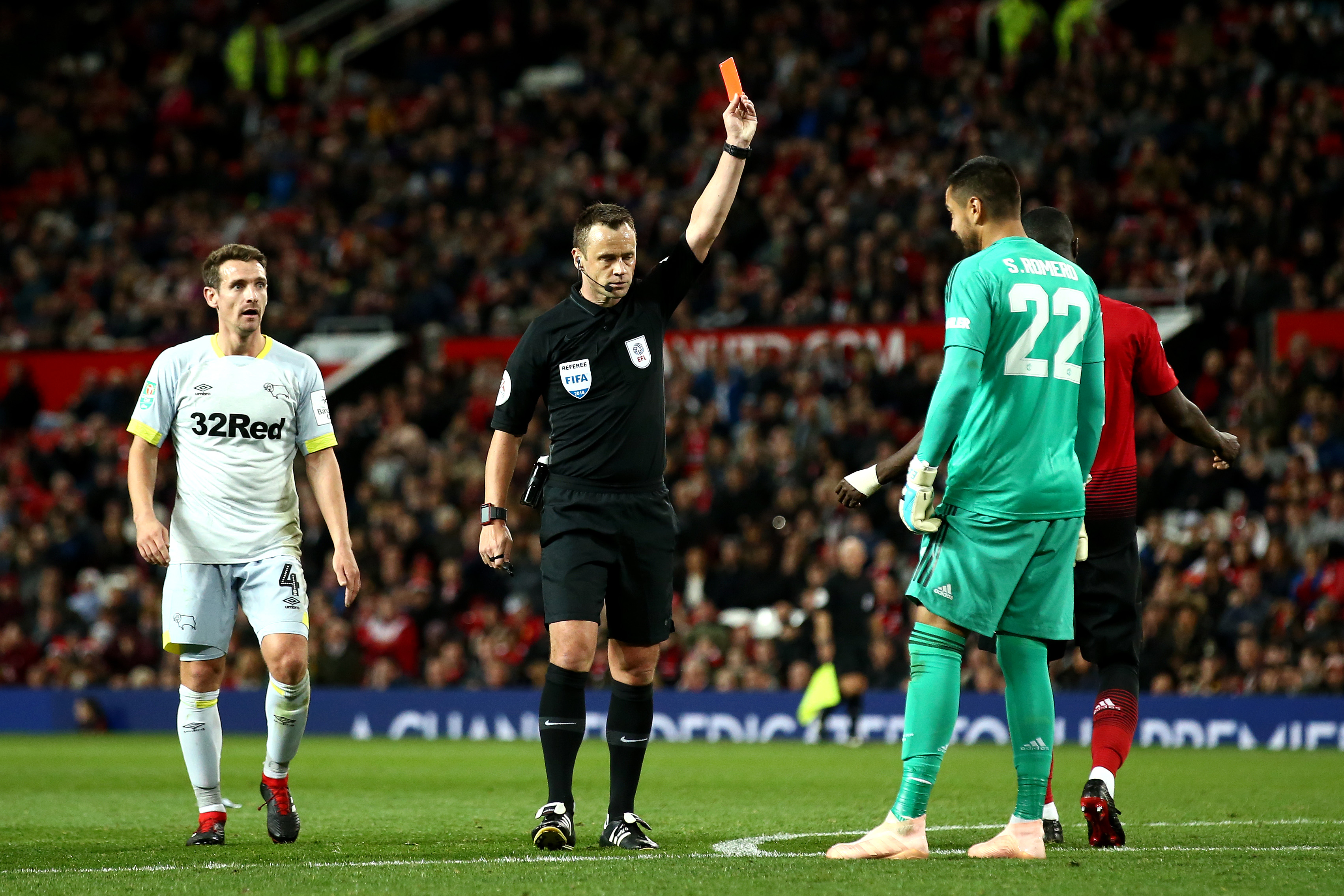 Sergio Romero Manchester United Derby County Carabao Cup