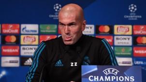 Zinedine Zidane PSG Real Madrid UEFA Champions League press conference