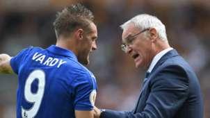 Jamie Vardy Claudio Ranieri Leicester City 2017