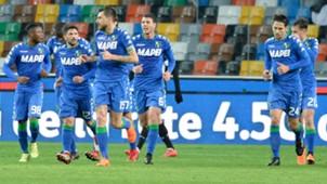 Sassuolo celebrating Serie A