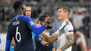 Toni Kroos Paul Pogba Germany France 2018